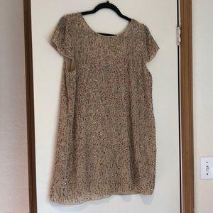 Zara sequined shift dress